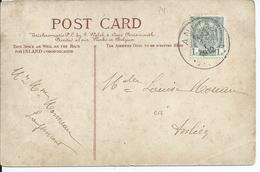 Fantasiekaart Met OCB 81 - Afstempeling ANLIER - COBA 50 - 1893-1907 Wapenschild