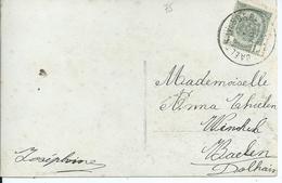 Fantasiekaart Met OCB 81 - Afstempeling BAELEN(VESDRE) - COBA 50 - 1893-1907 Wapenschild