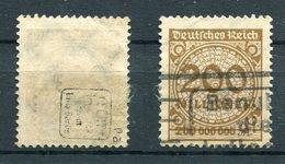 D. Reich Michel-Nr. 323Pa Vollstempel - Geprüft - Deutschland