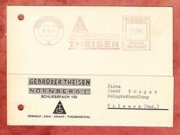 Karte, Absenderfreistempel, Theisen, 6 Pfg, Nuernberg 1941 (51083) - Deutschland