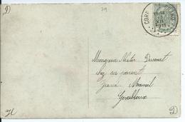 Fantasiekaart Met OCB 81 - Afstempeling CORROY-LE-GRAND - COBA 60 - 1893-1907 Wapenschild