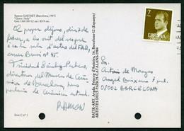 *Ramón Gausset* Ceramista. Tarjeta Postal Con Texto Autógrafo. Aprox. 1985. - Autógrafos