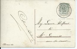 Fantasiekaart Met OCB 81 - Afstempeling LOENHOUT Zonder Jaartal - COBA 40 - 1893-1907 Wapenschild