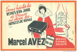 MAROQUINERIE / Buvard Marcel Avez - Reines D'un Jour , Emission Jean Nohain ORTF - Piles