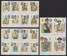 MANAMA N°   43, AERIENS N° 55 ** MNH Neufs Sans Charnière, 20 Valeurs (CLR309) Scouts, Jamboree Mondial, Japon 1971 - Manama