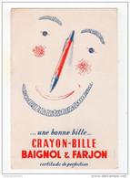 CRAYON BILLE / BAIGNOL ET FARJON - Buvards, Protège-cahiers Illustrés