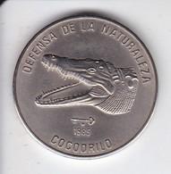 MONEDA DE CUBA DE 1 PESO DEL AÑO 1985 DE UN COCODRILO (COIN) SIN CIRCULAR-UNCIRCULATED - Cuba