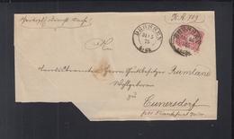 Dt. Reich Polen Poland Falthülle Drossen Ośno Lubuskie 1875 - Deutschland