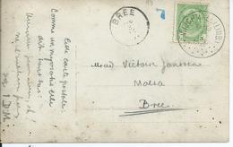 Fantasiekaart Met OCB 83 - Afstempeling WIJCHMAEL(LIMB)  - COBA 15 - 1893-1907 Wapenschild