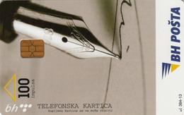 BOSNIA - PTT BIH, Calligraphy Pen, 100 U, Tirage 100,000, Used - Bosnia