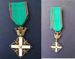 Medaglia Cavaliere Della Repubblica (argento) Più Medaglia Mignon - ME 124 - Other