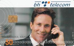 BOSNIA - PTT BIH, Man On Phone, 50 U, Tirage 200,000, Used - Bosnia