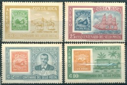 Costa Rica - 1963 - Yt PA 359/362 - Centenaire Du Timbre Poste - ** - Costa Rica