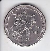MONEDA DE CUBA DE 1 PESO DEL AÑO 1982 DE DON QUIJOTE DE LA MANCHA (COIN) - Kuba
