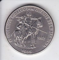 MONEDA DE CUBA DE 1 PESO DEL AÑO 1982 DE DON QUIJOTE DE LA MANCHA (COIN) - Cuba
