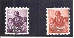 España/Spain-(MNH/**) - Edifil  1296-97  - Yvert  977-78 - 1951-60 Nuevos & Fijasellos