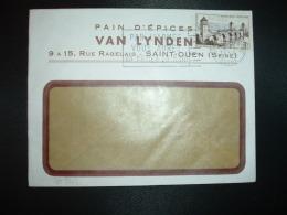 L. TP CAHORS 12F OBL.MEC.6-4 1956 ST OUEN SUR SEINE SEINE (93) PAIN D'EPICES VAN LYNDEN - Marcophilie (Lettres)