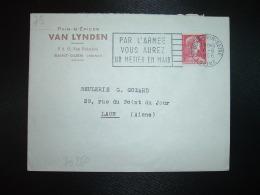 L. TP M.DE MULLER 15F OBL.MEC.6-6 1956 ST OUEN SUR SEINE SEINE (93) PAINS D'EPICES VAN LYNDEN - Marcophilie (Lettres)
