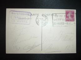 CP PAQUEBOT NORMANDIE TP SEMEUSE 20c OBL.MEC.28 III 1937 LE HAVRE SEINE INFRE (76) 13EME FOIRE VILLE DU HAVRE 27 MARS-11 - Marcophilie (Lettres)