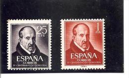 España/Spain-(MNH/**) - Edifil  1369-70 - Yvert  1042-43 - 1961-70 Unused Stamps