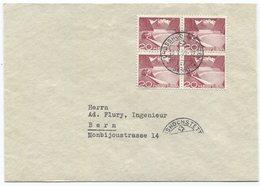 1804 -  Urtype/Grimsel Im Viererblock Auf Brief Mit Stempel GROSSHÖCHSTETTEN 13.I.50 + Attest Rellstab - Schweiz