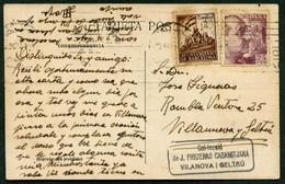 *Esteban Moya Tellez* Pintor. Autógrafo Sobre Tarjeta Postal. Circulada 1941. - Autógrafos