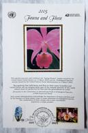 United Nations & USA 2005. Spring Flowers. Endangered Species. Souvenir Card - Maximumkarten (MC)