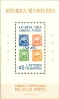 Costa Rica - 1963 - Yt BF 6 -  Centenaire Du Timbre Poste - * Charnière - Costa Rica