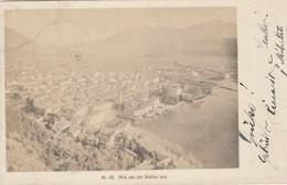 LAGO DI GARDA RIVA VON DER BASTION AUS PANORAMICA D'EPOCA VIAGGIATA ANNO 1927 - Trento