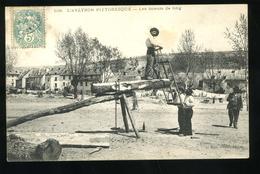 L'Aveyron Pittoresque 108 Les Scieurs De Long Roux Aurillac 1906 - Non Classificati