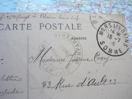 Cachet Rond 91-e Régiment D'infanterie 16/07/1915 Sur CP Château De Blain - Poststempel (Briefe)