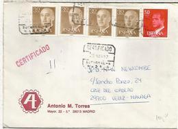 MADRID CC CERTIFICADA SELLOS BASICA - 1931-Hoy: 2ª República - ... Juan Carlos I
