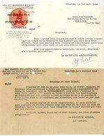 TOULOUSE  BRASSERIE DE MONTPLAISIR   -   2 LETTRES COMMERCIALE POUR PENNE  1942 43 - Alimentaire