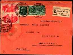 87771) Raccomandata Con 25c.imperiale+2x75c.fratellanza D'armi+1.25l.l.espresso Da Napoli A Fisciano Il 13/12/1941 - Poststempel