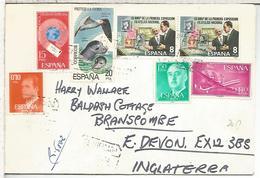 BARCELONA CC CERTIFICADA SELLOS AVION CARABELA URGENTE FILATELIA FUANA - 1971-80 Cartas