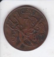 MONEDA DE ANTILLAS DANESAS DE 1 CENT - 5 BIT DEL AÑO 1905 (COIN) RARA - West Indies
