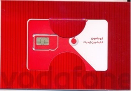 EGYPT  :VODAPHONE Folder With Man With GSM Card   CHIP Type 3 (chip Was Removed And Replaced) - Egitto