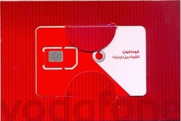 EGYPT  :VODAPHONE Folder With Woman With GSM Card   CHIP Type 1 (chip Was Removed And Replaced) - Egitto