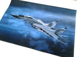 MiG-29 Fulcrum Yugoslav Air Force Aviation Art Print / Limited Edition 31.5 X 21 Cm - Aviation