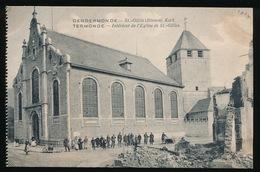 DENDERMONDE  OORLOG 1914 - 1918  ==  ST.GILLIS ( BINNEN ) KERK - Diksmuide
