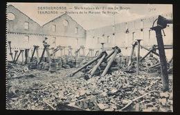 DENDERMONDE  OORLOG 1914 - 1918  ==   WERKHUIZEN DER FIRMA DEBRUYN - Diksmuide