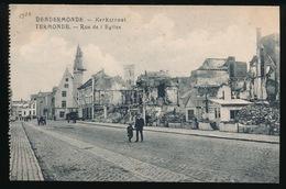 DENDERMONDE  OORLOG 1914 - 1918  ==  KERKSTRAAT - Diksmuide