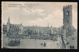 DENDERMONDE  OORLOG 1914 - 1918  ==  GROOTE MARKT - Diksmuide