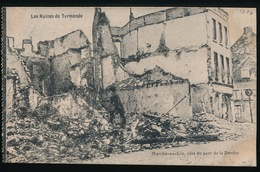 DENDERMONDE  OORLOG 1914 - 1918  ==  MARCHE AU LIN , COTE DU PONT DE LA DENDRE - Diksmuide