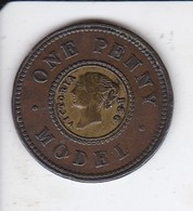 MONEDA DE REINO UNIDO DE 1 PENNY MODEL DEL AÑO 1840 (PRUEBA)  (COIN) RARA - Commerce Extérieur, Essais, Contremarques Et Surfrappes