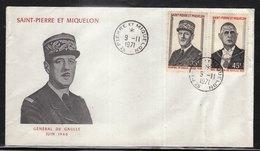 SAINT PIERRE ET MIQUELON (SPM) - FDC De 1971 N° 419 à 420 (rare) - FDC