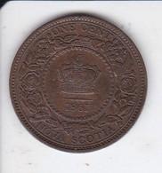 MONEDA DE NOVA SCOTIA DE 1 CENTAVO DEL AÑO 1861  (COIN)  CANADA - Canada