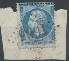 Lot N°42245  Variété/n°22/Fragment, Oblit GC 1665 Glos-la-Ferrière, Oise (58), Ind 8, O De POSTES, Piquage, Point Blanc - 1862 Napoleone III