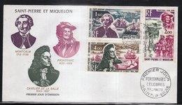 SAINT PIERRE ET MIQUELON (SPM) - FDC De 1973 N° PA 54 à 57 (rare) - FDC