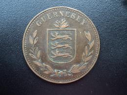 GUERNESEY : 8 DOUBLES  1918 H  KM 14    TTB - Guernsey